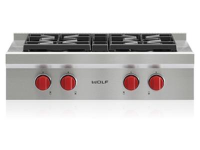 "30"" Wolf  Sealed Burner Rangetop With 4 Burners - SRT304-LP"