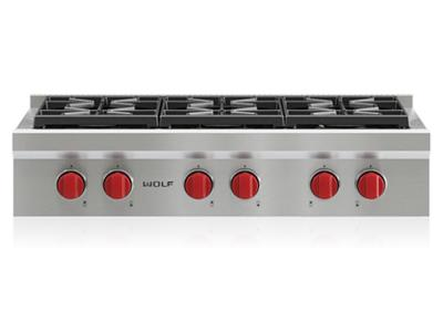 "36"" Wolf  Sealed Burner Rangetop With 6 Burners - SRT366-LP"