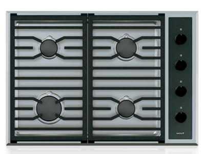 "30"" Wolf Transitional Gas Cooktop With 4 Burners - CG304T/S/LP"
