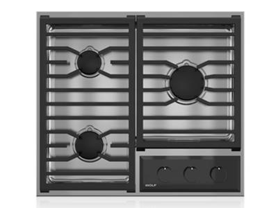 "24"" Wolf Transitional Framed Gas Cooktop - CG243TF/S/LP"