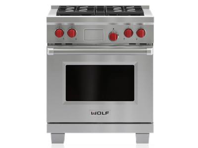 "30"" Wolf  Dual Fuel Range With 4 Burners  - DF304-LP"