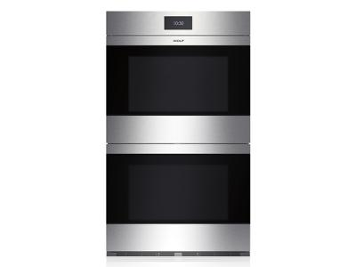 "30"" Wolf M Series Contemporary Stainless Steel Built-In Double Oven - DO30CM/S"