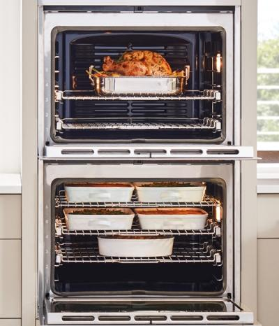 """30"""" Wolf M Series Contemporary Stainless Steel Built-In Double Oven - DO30CM/S"""