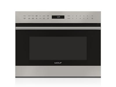"""24"""" Wolf E Series Transitional Drop-Down Door Microwave Oven MDD24TE/S/TH"""