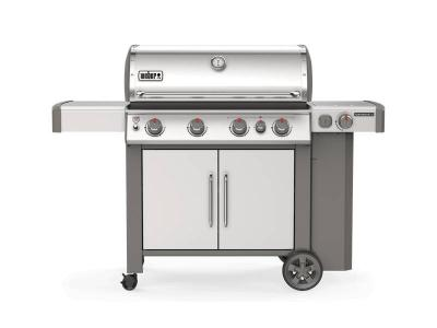 "65"" Weber 4-Burner Liquid Propane  Gas Grill in Stainless Steel - Genesis II S-435 LP"