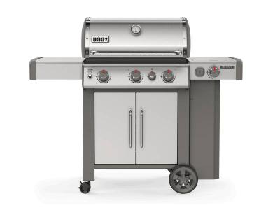 "59"" Weber 3-Burner Liquid Propane Gas Grill in Stainless Steel  - Genesis II S-335 LP"