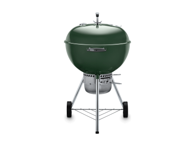 """23"""" Weber Charcoal Grill with Built-In Thermometer in Green - Original Kettle Premium (Gr)"""