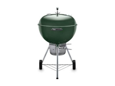 "23"" Weber Charcoal Grill with Built-In Thermometer in Green - Original Kettle Premium (Gr)"
