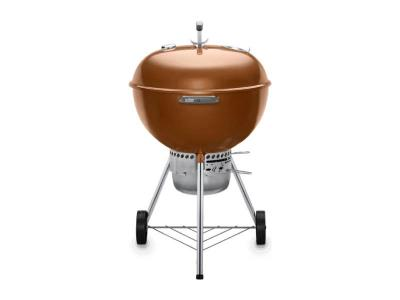 "23"" Weber Charcoal Grill with Built-In Thermometer in Copper - Original Kettle Premium (C)"