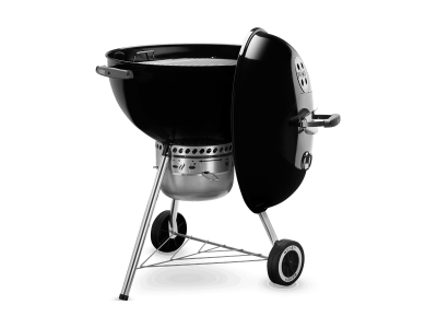 """23"""" Weber Charcoal Grill with Built-In Thermometer in Black - Original Kettle Premium (B)"""