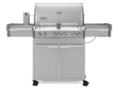 "66"" Weber Summit Series 4 Burner Liquid Propane Grill With Stainless Steel Side Tables - Summit S-470 LP"