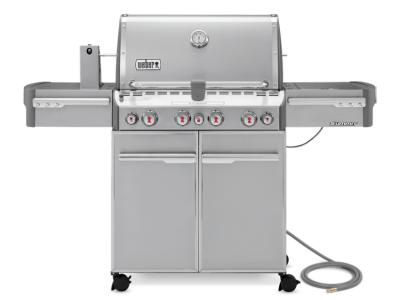 "66"" Weber Summit Series 4 Burner Natural Gas Grill With Side Burner - Summit S-470 NG"