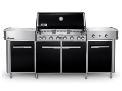"91"" Weber Summit Series 6 Burner Liquid Propane Grill With Side Burner In Black - Summit grill center LP (B)"