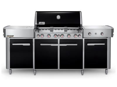 "91"" Weber Summit Series 6 Burner Natural Gas Grill With Side Burner In Black - Summit grill center NG (B)"