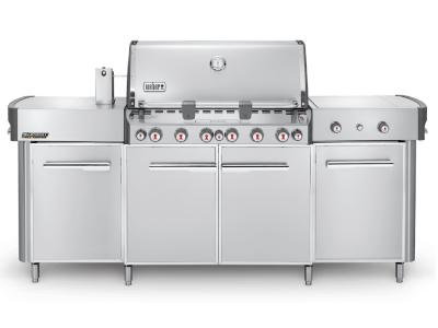 "91"" Weber Summit Series 6 Burner Natural Gas Grill With Side Burner In Stainless Steel - Summit grill center NG (SS)"