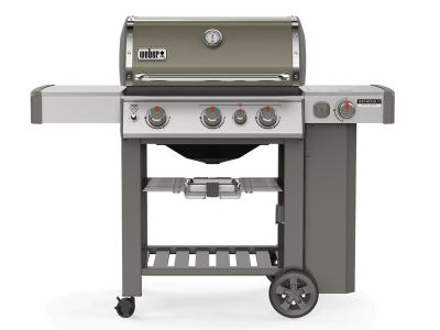 "59"" Weber Genesis II Series 3 Burner Liquid Propane Grill With Side Burner In Smoke - Genesis II CE-330 LP (Sm)"