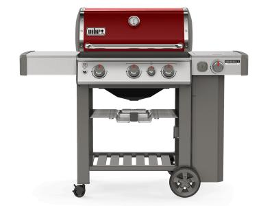 "59"" Weber Genesis II Series 3 Burner Liquid Propane Grill With Side Burner In Crimson - Genesis II CE-330 LP (Cr)"