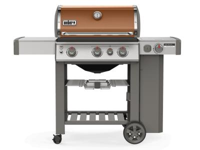 "59"" Weber Genesis II Series 3 Burner Liquid Propane Grill With Side Burner In Copper - Genesis II CE-330 LP (C)"