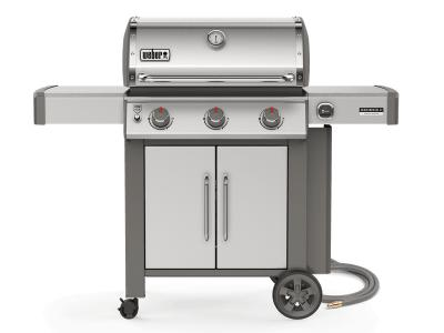 "59"" Weber Genesis II Series 3 Burner Natural Gas Grill With Built-In Thermometer In Stainless Steel - Genesis II CSS-315 NG"