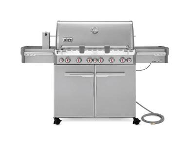 "74"" Weber NaturalGas Grill in Stainless Steel  - Summit S-670 NG"