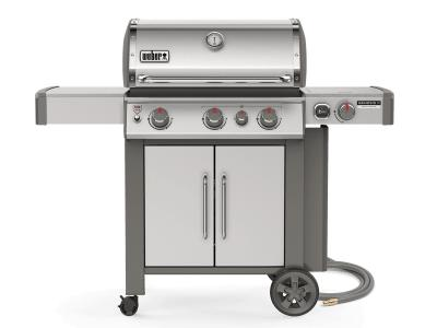 "59"" Weber Genesis II Series 3 Burner Natural Gas Grill In Stainless Steel - Genesis II CSS-335 NG"