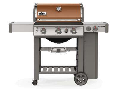 "59"" Weber Genesis II Series 3 Burner Liquid Propane Grill With Built-In Thermometer And Side Burner In Copper - Genesis II E-330 LP (Cu)"