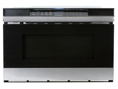 """24"""" Sharp 1.2 cu.ft. Microwave Drawer Stainless Steel - SMD2480CSC"""
