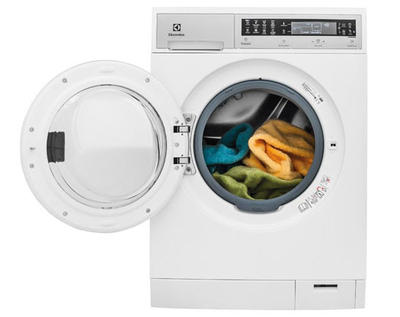 """24"""" Electrolux Compact Washer with IQ-Touch Controls featuring Perfect Steam - 2.4 Cu. Ft. - EFLS210TIW"""