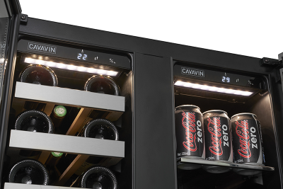 """24"""" Cavavin Dual Zone Beverage Center with 21 Bottles and 66 Cans - V87WBVC"""