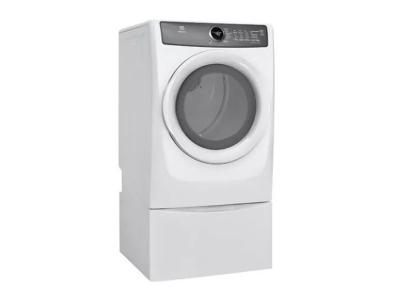 "27"" Electrolux Front Load Perfect Steam Electric Dryer with 7 cycles - 8.0 Cu. Ft. - EFMC427UIW"