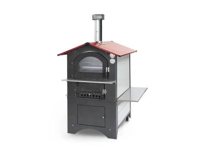"""40"""" Fontana Forni Rosso Outdoor Wood Fired Pizza Oven - CA-ROSSO-80RV"""