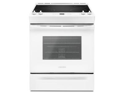 "30""  Amana Electric Range with Front Console - YAES6603SFW"