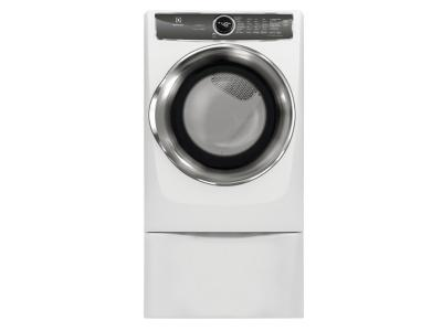 "27"" Electrolux Front Load Perfect Steam Gas Dryer with Instant Refresh and 9 cycles - 8.0. Cu. Ft. - EFMG627UIW"