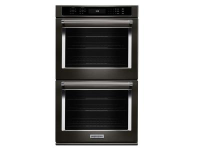 "27"" KitchenAid Double Wall Oven with Even-Heat True Convection KODE507EBS"