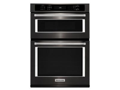 "27"" KitchenAid Combination Wall Oven with Even-Heat KOCE507EBS"