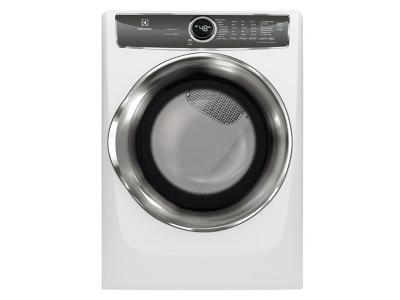 """27"""" Electrolux 8.0 Cu. Ft. Front Load Perfect Steam Electric Dryer With Instant Refresh And 9 Cycles - EFMC627UIW"""