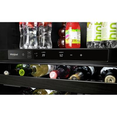 """24"""" Whirlpool Undercounter Beverage Center with Towel Bar Handle- 5.2 cu. ft. - WUB35X24HZ"""