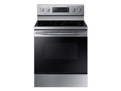 "30"" Samsung 5.9 cu. ft. Freestanding Electric Range with Warming Center - NE59M4320SS"