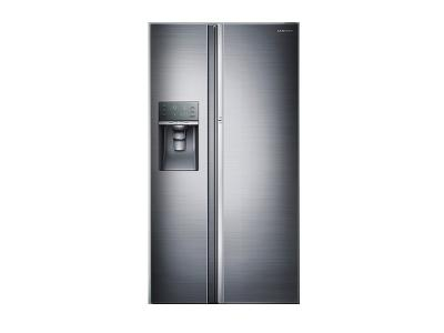 "36"" Samsung  Counter Depth 22 cu.ft Side-by-Side Refrigerator (Real Stainless) - RH22H9010SR"