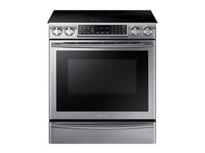 "30"" Samsung NE9900H Induction Range with Virtual Flame Technology, 5.8 cu.ft. - NE58K9560WS"