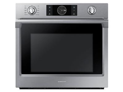 "30"" Samsung Convection Single Oven with Steam Bake, 5.1 cu.ft - NV51K7770SS"