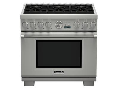"36 "" Thermador  Professional Series Pro Grand Commercial Depth All Gas Range - PRG366JG"