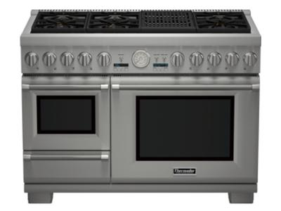 "48"" Thermador Professional Series Pro Grand Commercial Depth Dual Fuel Steam Range - PRD48NLSGC"