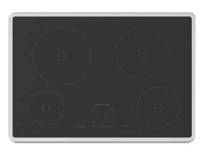 "30"" KitchenAid Induction Cooktop with 4 Elements and Touch-Activated Controls - KICU500XSS"