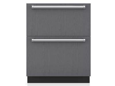 "27"" SubZero Refrigerator Drawers - Panel Ready - ID-27R"