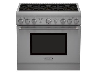 "36"" Thermador  Professional Series Pro Harmony Standard Depth All Gas Range - PRG366GH"