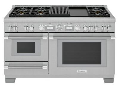 "60"" Thermador Professional Series Pro Grand Commercial Depth Dual Fuel Steam Range - PRD606WCSG"