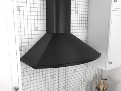 "36"" Zephyr Savona Wall Mount Chimney Hood with Recirculating Option - ZSAM90DB"