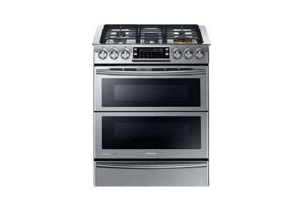 "30"" Samsung Slide-in Dual Fuel Range with Flex Duo and Dual Door NY58J9850WS"