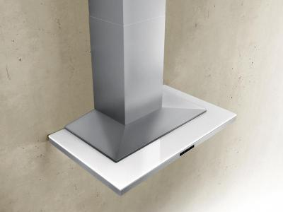 """36"""" Zephyr Designer Series Layers Wall Mount Chimney Range Hood With White Glass - ALAM90BWX"""